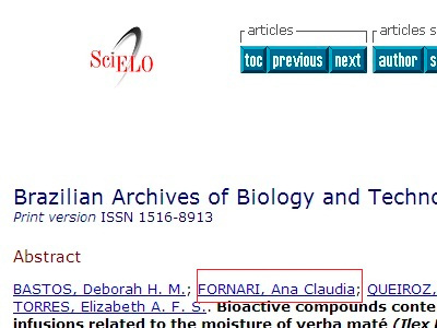Brazilian Archives of Biology and Technology